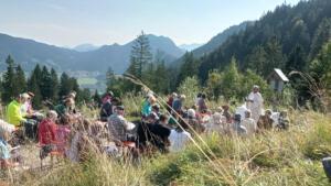 26.09.98: Berggottesdienst mit Taufe