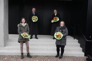 Verabschiedung und Neubeginn: Frau Horn, Herr Müller, Frau Wagner, Frau Husen